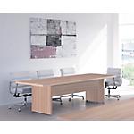 Table de réunion Flora 2200 x 1000 x 740 mm Imitation noyer