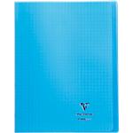 Cahier grands carreaux piqué Polypro Clairefontaine Koverbook A4+ Coloris aléatoire 48 Pages   24 Feuilles