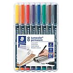 Marqueur permanent STAEDTLER Lumocolor Assortiment   8 Unités
