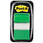 Marque Pages Post it Souples 2,54 x 4,32 cm Vert   50 Bandes