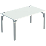 Bureau droit 4You 1 600 x 800 x 720 mm Blanc, aluminium