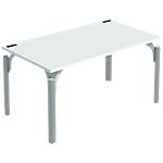 Bureau droit 4You 160 x 80 x 72 cm Blanc, aluminium