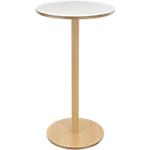Table à café Paperflow Woody 60 x 60 x 110 cm Plateau blanc