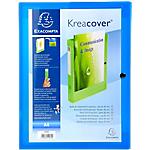 Boites de classement à pression Exacompta Krea Cover 24 x 32 cm Bleu