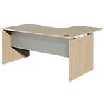 Bureau retour à gauche Dual 160 x 120 x 73 cm Imitation chêne, gris aluminium