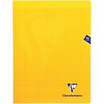 Cahier grands carreaux piqué Clairefontaine Mimesys A5+ Jaune 96 Pages   48 Feuilles
