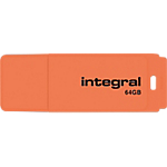 Clé USB Integral Néon 64 Go Orange