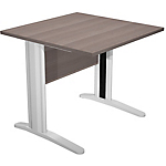 Bureau droit Easy Select 800 x 800 x 740 mm Imitation cèdre, aluminium