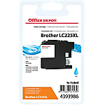 Cartouche jet d'encre Office Depot Compatible Brother LC225XL Cyan