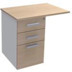 Extension de bureau Adjust 800 x 600 x 719 mm Imitation chêne, blanc