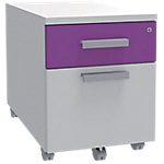Caisson mobile Adjust 414 x 529 x 560 mm Blanc, violet