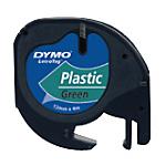 Ruban d'étiquettes DYMO Letratag 12 mm x 4 m Noir, vert