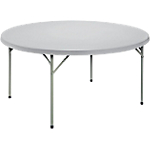 Table pliante ronde 740 mm Gris