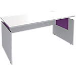 Bureau ajustable Adjust 1600 x 800 x 820 mm Blanc, violet