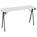 Table pliante de formation 120 x 40 x 74 cm Gris