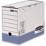 Boîtes d'archivage Fellowes Bankers Box Blanc, bleu 15 x 43,4 x 47,9 cm 10 Unités