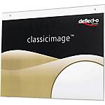 Support pour panneaux Deflecto Pré perforé A4 paysage Transparent 23,8 (H) x 30,1 (l) x 0,5 (P) cm Transparent