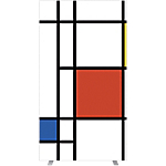 Cloison amovible Paperflow 176 (H) x 94 (l) cm Assortiment
