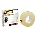 Ruban adhésif transparent Scotch 550 Adhésif, résistant à l'humidité, résistant aux variations de température Acétate de cellulose 19 mm x 33 m Transparent