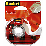 Ruban adhésif sur dévidoir Scotch 19mm (l) x 25m (L) Crystal Clear Tape Invisible