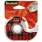 Ruban adhésif sur dévidoir Scotch Crystal Clear Tape Adhésif, N'abîme pas les photos, permanent Invisible