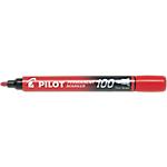 Marqueur permanent Pilot 100 Ogive Rouge