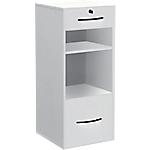 Classeur monobloc 2 tiroirs + 2 niches Elégance 420 x 440 x 1010 mm Blanc