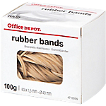 Élastiques en caoutchouc Office Depot 60 x 1,5 mm 40 mm Naturel 100 g   100 g