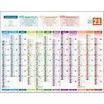 Calendriers Bouchut Grandrémy Calendrier Avec carte européenne 2020 43 x 55 cm