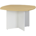 Table de réunion Gautier Office Sunday 74 cm Imitation chêne