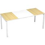 Bureau droit 4 pieds Paperflow EasyOffice Imitation hêtre, blanc 1800 x 800 x 750 mm