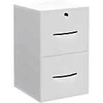 Classeur monobloc 2 tiroirs pour dossiers suspendus Elégance 420 x 440 x 690 mm Blanc