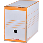 Boîte d'archives Office Depot 16,7 x 33,5 x 24,5 cm Orange 25 Unités
