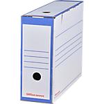 Boîtes archives Office Depot 10 x 33,5 x 24,5 cm Bleu 25 Unités