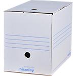 Boîte d'archives Niceday 20 x 33,5 x 24,5 cm Blanc 50 Unités