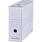 Boîte d'archives Niceday 10 x 33,5 x 24,5 cm Blanc 50 Unités