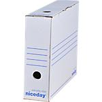 Boîte d'archives Niceday 8 x 33,5 x 24,5 cm Blanc 50 Unités