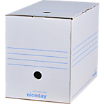 Boîtes archives Niceday 20 x 33,5 x 24,5 cm Blanc 10 Unités