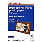 Papier photo professionnel Brillant Blanc Office Depot Professional 10 x 15 cm 270 g