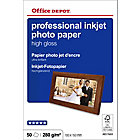 Papier photo professionnel Brillant Blanc Office Depot Professional 10 x 15 cm 270 g