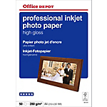 Papier photo professionnel Brillant Blanc Office Depot Professional A4 280 g