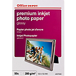 Papier photo premium Brillant Blanc Office Depot Premium 10 x 15 cm 280 g