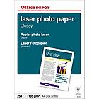 Papier photo brillant Brillant Blanc Office Depot A4 135 g