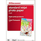Papier photo standard mat Mat Blanc Office Depot A4 130 g
