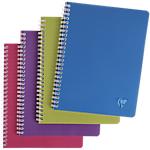 Cahier petits carreaux reliure intégrale Polypro Clairefontaine Linicolor A5 Coloris aléatoire 100 Pages   50 Feuilles