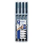 Marqueur permanent STAEDTLER Lumocolor 318 Noir   4 Unités