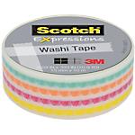 Adhésif décoratif Scotch Expression 15 mm x 10 m Multicolore rayé