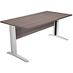 Bureau droit Easy Select 1 600 x 800 x 740 mm Imitation cèdre, aluminium