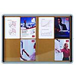 Tableau d'affichage Affichage d'informations Aluminium Liège verrouillable 104 (H) x 101,2 (l) x 5,4 (P) cm