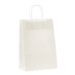 Sacs en papier Poignée torsadée 10 x 31 cm 80 g